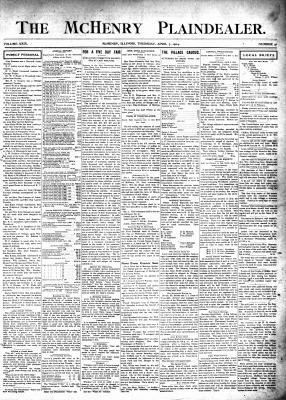 McHenry Plaindealer (McHenry, IL), 7 Apr 1904