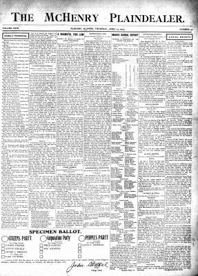 McHenry Plaindealer (McHenry, IL), 14 Apr 1904