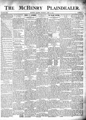 McHenry Plaindealer (McHenry, IL), 21 Apr 1904