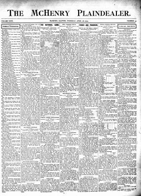 McHenry Plaindealer (McHenry, IL), 28 Apr 1904