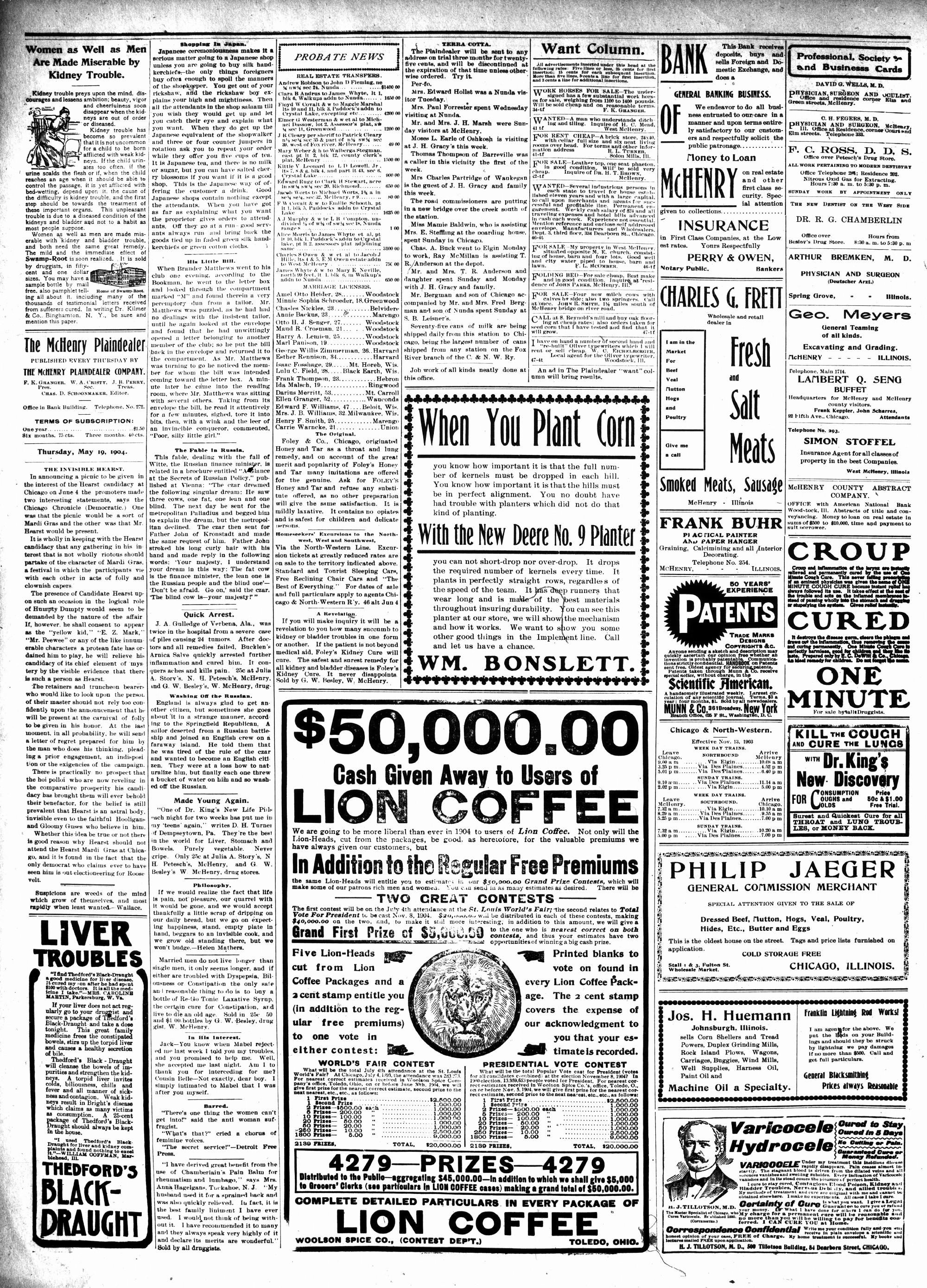McHenry Plaindealer (McHenry, IL), 19 May 1904