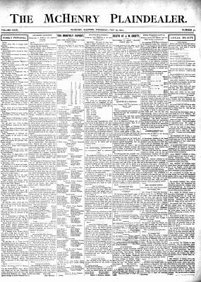 McHenry Plaindealer (McHenry, IL), 19 May 1904