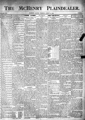 McHenry Plaindealer (McHenry, IL), 11 Aug 1904