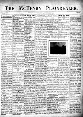 McHenry Plaindealer (McHenry, IL), 8 Sep 1904