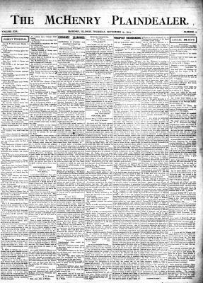 McHenry Plaindealer (McHenry, IL), 15 Sep 1904