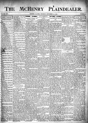 McHenry Plaindealer (McHenry, IL), 22 Sep 1904