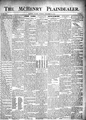 McHenry Plaindealer (McHenry, IL), 29 Sep 1904