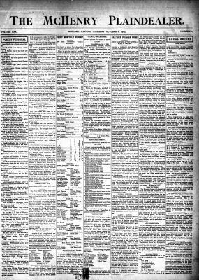 McHenry Plaindealer (McHenry, IL), 6 Oct 1904