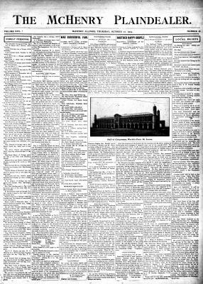 McHenry Plaindealer (McHenry, IL), 27 Oct 1904