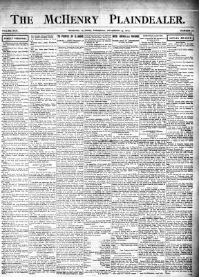 McHenry Plaindealer (McHenry, IL), 24 Nov 1904