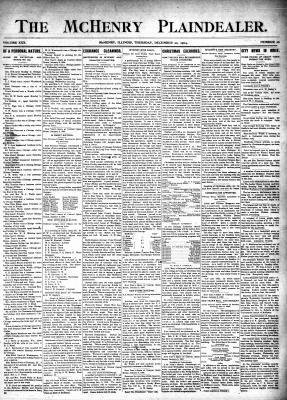 McHenry Plaindealer (McHenry, IL), 22 Dec 1904