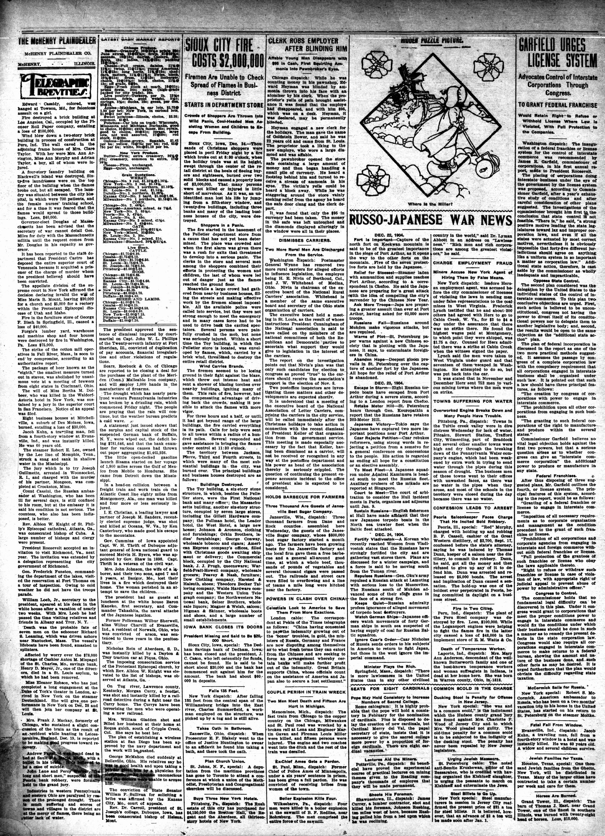McHenry Plaindealer (McHenry, IL), 29 Dec 1904
