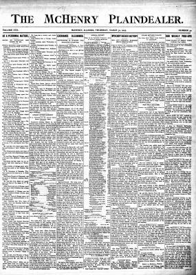McHenry Plaindealer (McHenry, IL), 30 Mar 1905