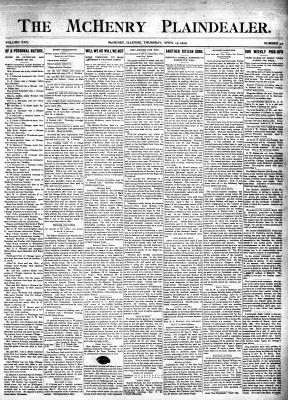McHenry Plaindealer (McHenry, IL), 13 Apr 1905