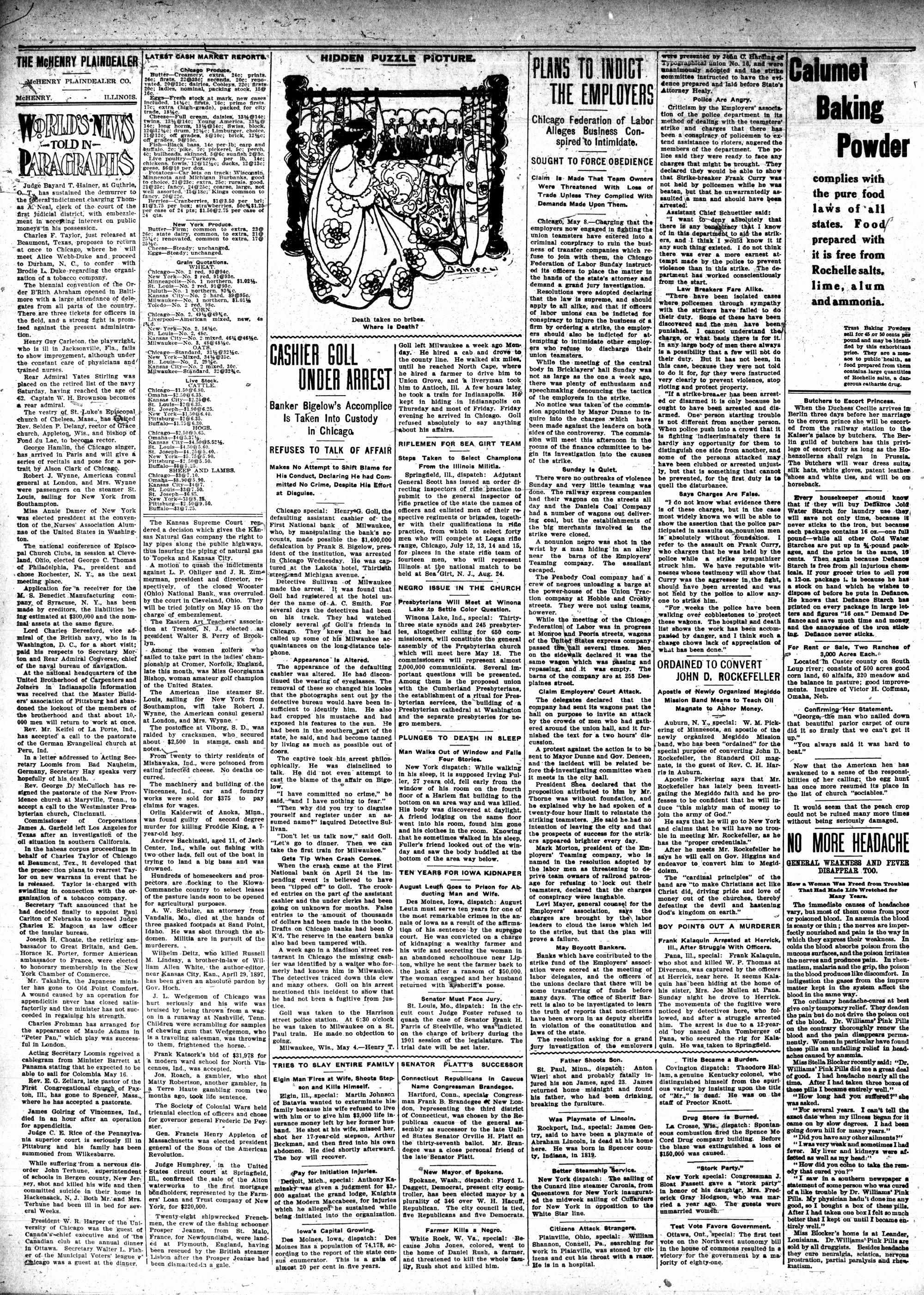 McHenry Plaindealer (McHenry, IL), 11 May 1905