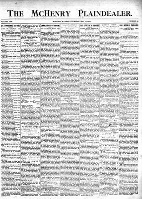 McHenry Plaindealer (McHenry, IL), 25 May 1905