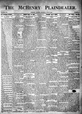 McHenry Plaindealer (McHenry, IL), 8 Jun 1905