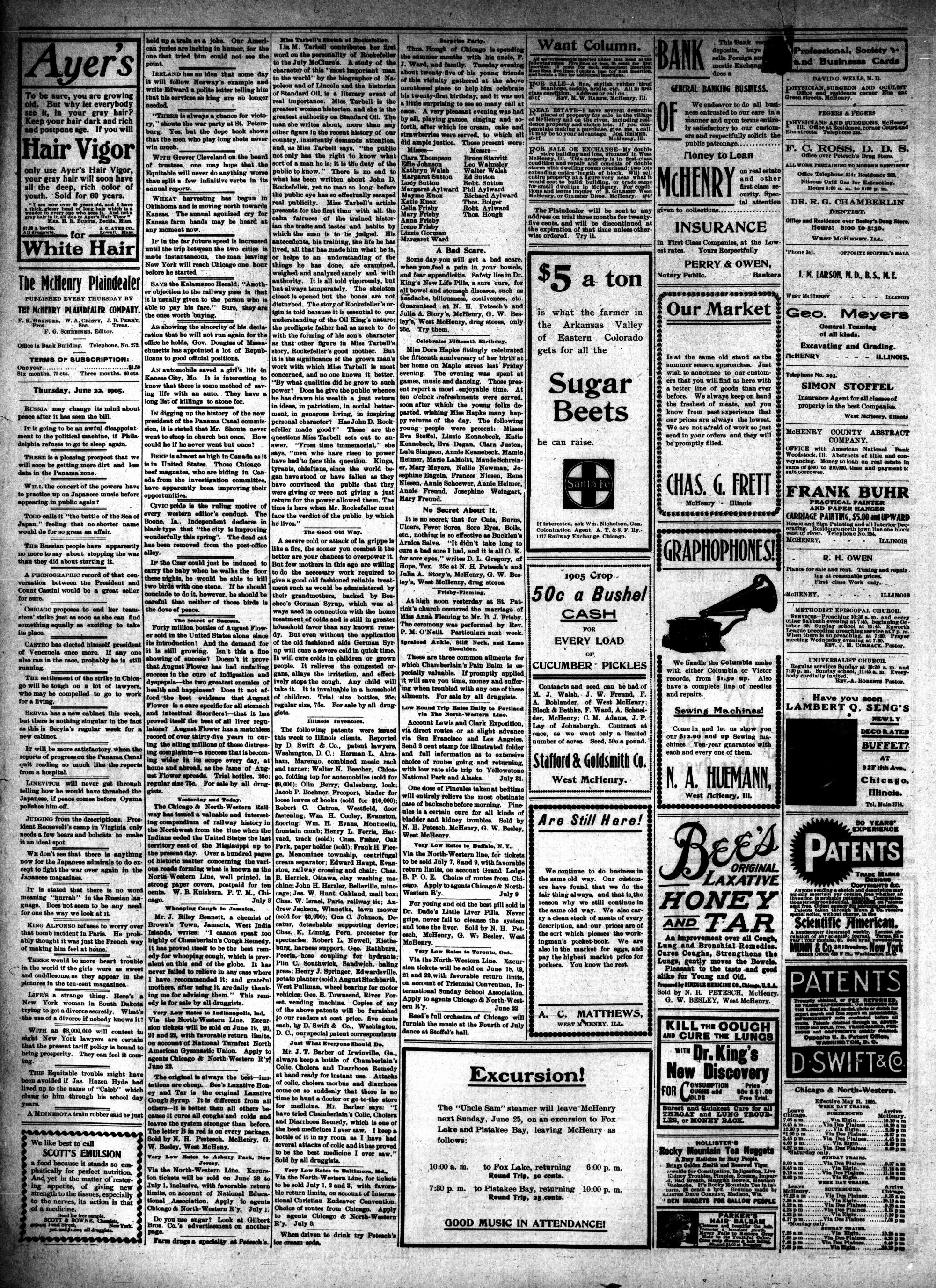 McHenry Plaindealer (McHenry, IL), 22 Jun 1905