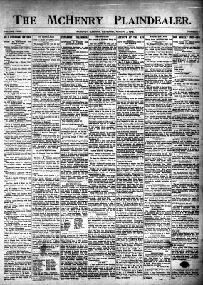 McHenry Plaindealer (McHenry, IL), 3 Aug 1905