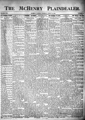 McHenry Plaindealer (McHenry, IL), 31 Aug 1905