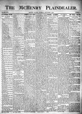 McHenry Plaindealer (McHenry, IL), 7 Sep 1905
