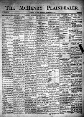 McHenry Plaindealer (McHenry, IL), 21 Sep 1905