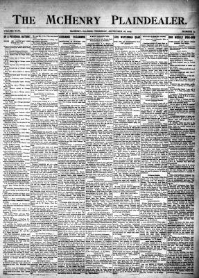 McHenry Plaindealer (McHenry, IL), 28 Sep 1905