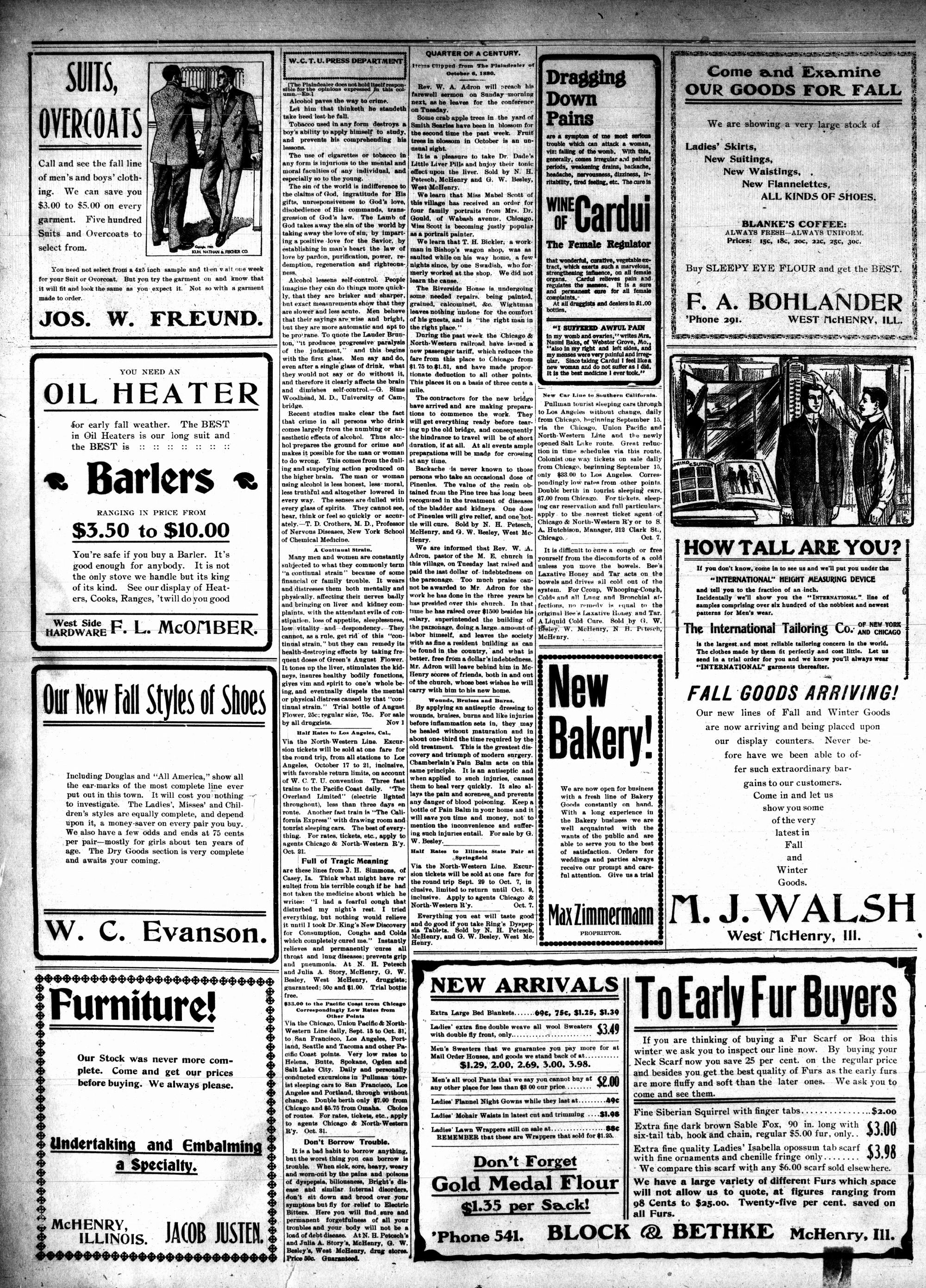McHenry Plaindealer (McHenry, IL), 5 Oct 1905