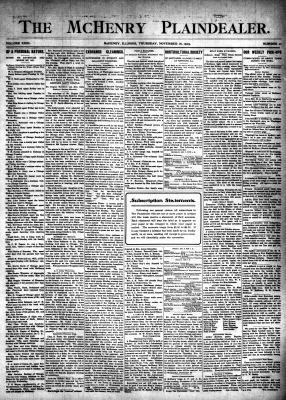 McHenry Plaindealer (McHenry, IL), 16 Nov 1905
