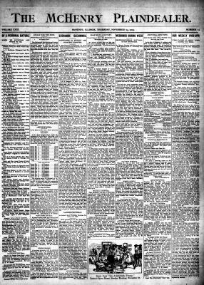 McHenry Plaindealer (McHenry, IL), 23 Nov 1905