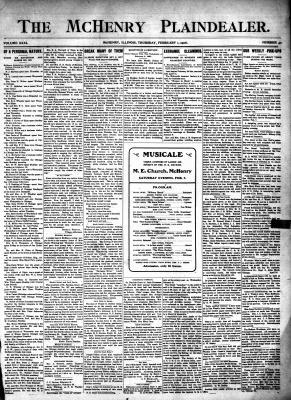 McHenry Plaindealer (McHenry, IL), 1 Feb 1906