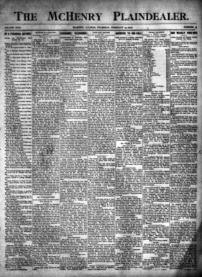 McHenry Plaindealer (McHenry, IL), 15 Feb 1906