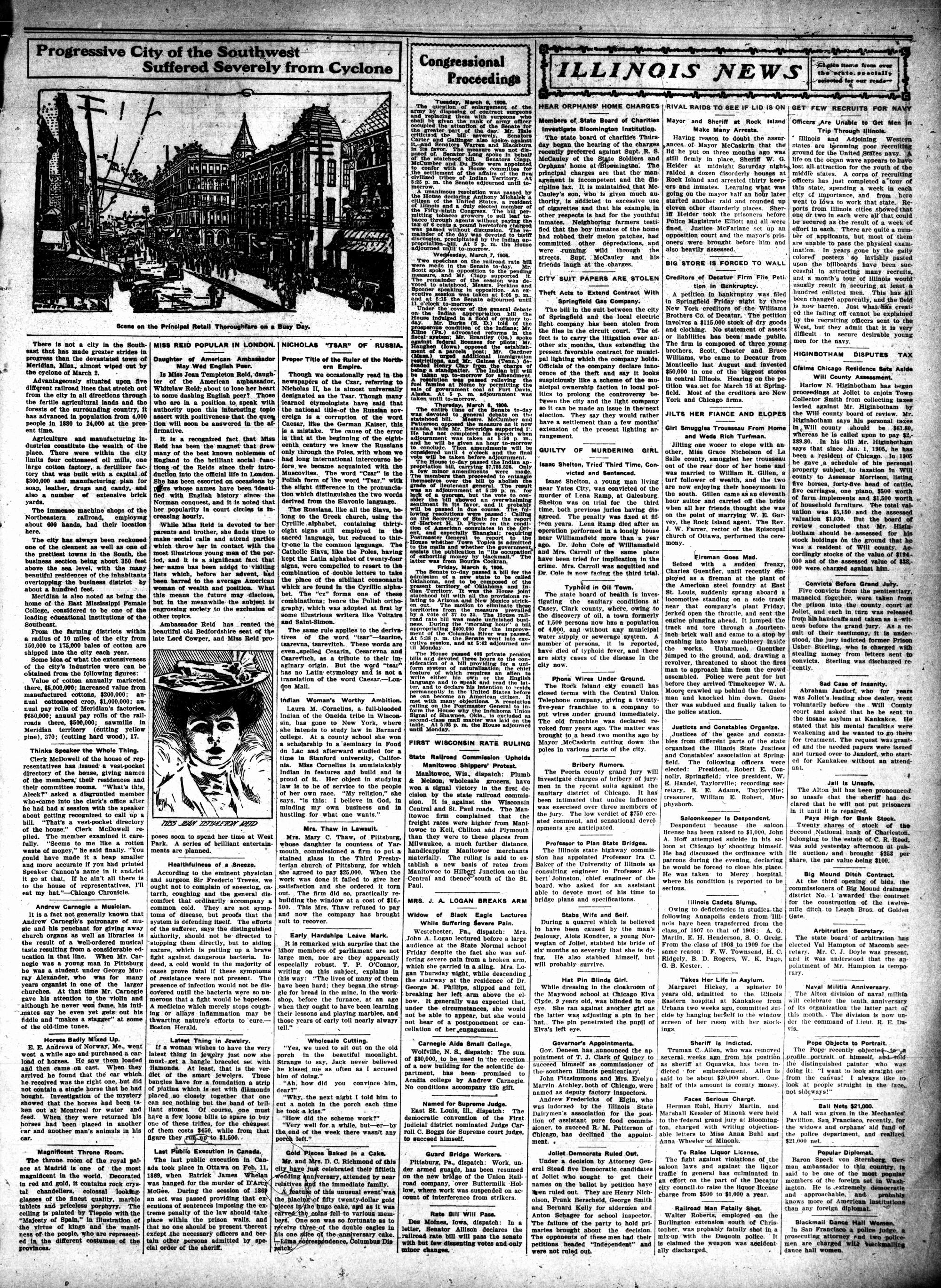McHenry Plaindealer (McHenry, IL), 15 Mar 1906