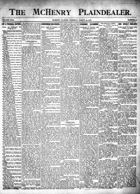 McHenry Plaindealer (McHenry, IL), 29 Mar 1906