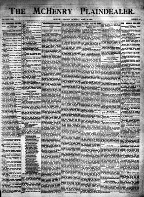 McHenry Plaindealer (McHenry, IL), 19 Apr 1906