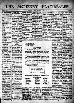 McHenry Plaindealer (McHenry, IL), 26 Apr 1906