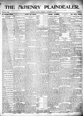 McHenry Plaindealer (McHenry, IL), 20 Sep 1906