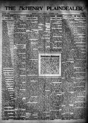 McHenry Plaindealer (McHenry, IL), 22 Nov 1906