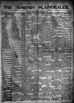 McHenry Plaindealer (McHenry, IL), 6 Dec 1906