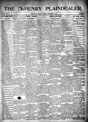 McHenry Plaindealer (McHenry, IL), 13 Dec 1906