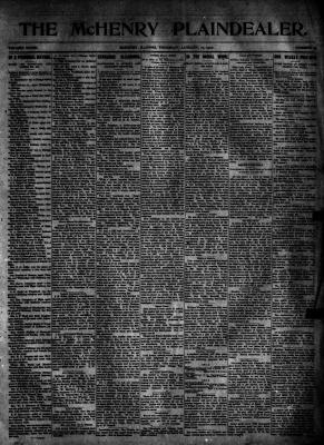 McHenry Plaindealer (McHenry, IL), 17 Jan 1907