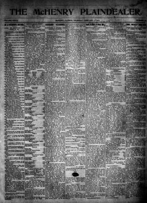 McHenry Plaindealer (McHenry, IL), 7 Feb 1907