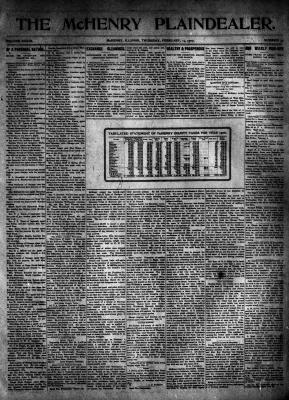 McHenry Plaindealer (McHenry, IL), 14 Feb 1907