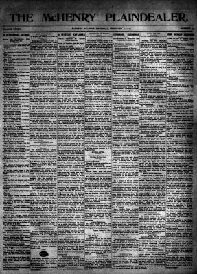 McHenry Plaindealer (McHenry, IL), 21 Feb 1907