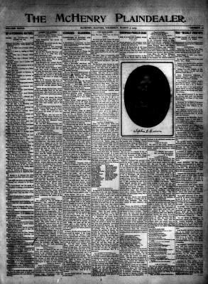 McHenry Plaindealer (McHenry, IL), 7 Mar 1907