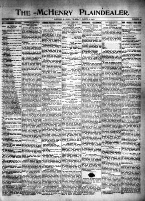 McHenry Plaindealer (McHenry, IL), 21 Mar 1907