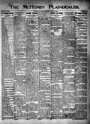 McHenry Plaindealer (McHenry, IL), 18 Apr 1907
