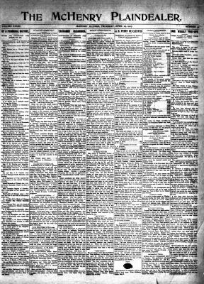 McHenry Plaindealer (McHenry, IL), 25 Apr 1907