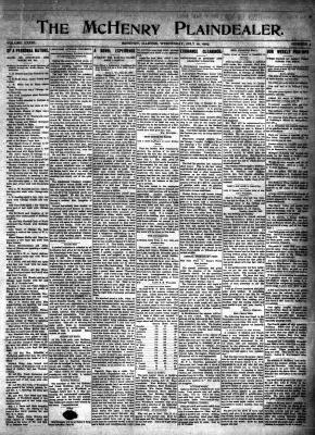McHenry Plaindealer (McHenry, IL), 10 Jul 1907