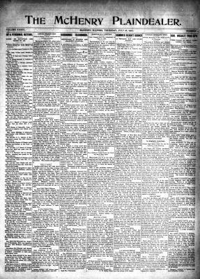McHenry Plaindealer (McHenry, IL), 18 Jul 1907